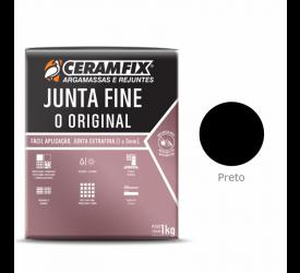 Rejunte Junta Fine Ceramfix Preto 1Kg