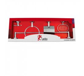 Kit Acessórios Para Banheiro Leão 5 Peças Slim 13010