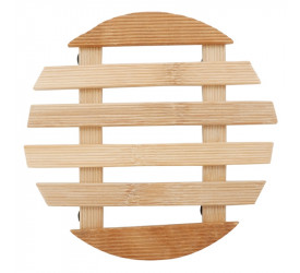Descanso de Panela Bambu Redondo 17 cm Yazi 18587 Ybn07