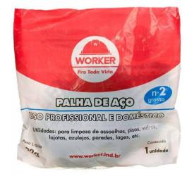 Palha de Aço Número 2 Worker - 103055