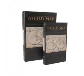 Jogo de 2 Caixas Biblioteca Livro Mundos L Hermitage 24010