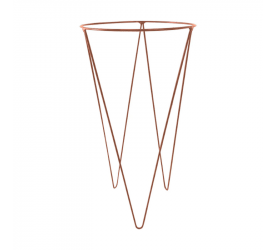 Suporte P/Vaso Burguina Bronze Pequeno Ø30x56 57280101