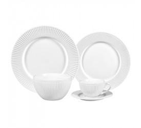 Aparelho de Jantar 30Pçs Minsk Branco em Porcelana 27064