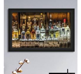 Quadro Decorativo Plasbil Médio Parede de Bebidas QDM052