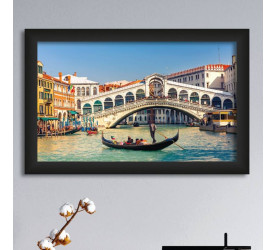 Quadro Decorativo Plasbil Médio Gôndola Veneza QDM016