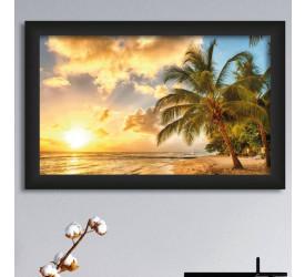 Quadro Decorativo Plasbil Médio Palmeiras em Barbados QDM014