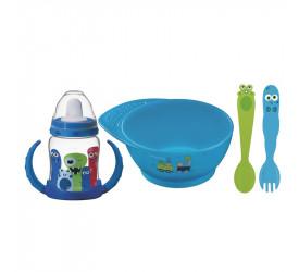 Kit Infantil Tramontina 4 Peças Monsterbaby Azul 23799197