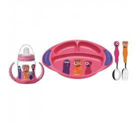 Kit Infantil Tramontina 4 Peças Monsterkids Rosa 23799498