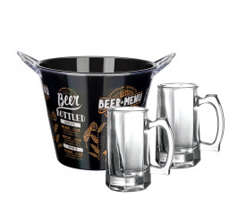 Kit 3 Peças para Cerveja Beer Menu Dynasty 26337br