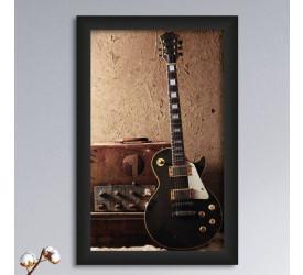 Quadro Decorativo Plasbil Médio Guitarra Grunge QDM015