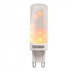 Lâmpada Led Flamejante Taschibra G9 1W Efeito Chama