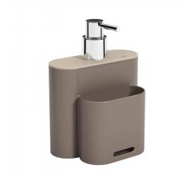 Dispenser Coza Flat 500ml Cinza 170023334