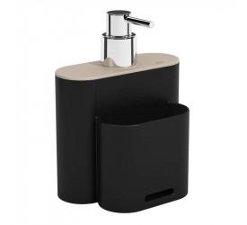 Dispenser Coza Flat 500ml Preto 170023333