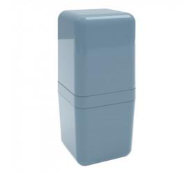 Porta Escova Coza Com Tampa Cube Azul 208770477