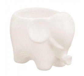 Cachepot em Cerâmica Elefante Mart Branco 08620