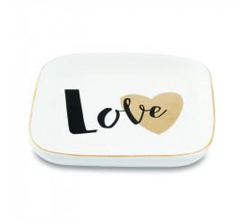 Mini Prato Decorativo em Cerâmica Mart Love 11344
