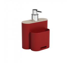 Dispenser Flat 500 ml Vermelho Bold Coza 17002-3332