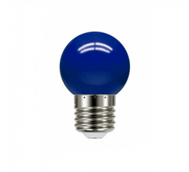 Lâmpada Led Bolinha Azul 1W 127V Tbl 5 Taschibra 11080080