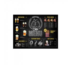 Tabua Retangular Beer Time em Vidro Dynasty 26047