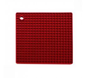 Descanso de Panela em Silicone Quadrado 18cm Vermelho 16292