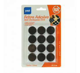 Feltro Adesivo Anti-deslizante Eva Redondo 12un 2,5cm 20599