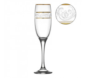 Jogo com 6 Taças Misket Sultan Champagne 190ml Vitrizi 17363