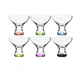 Jogo de Taças Cristal Sobremesa 330ml 6 Un Vega Colorido