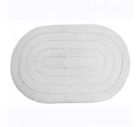 Tapete Allegro Oval Branco 40x60cm Kapazi 28alle01