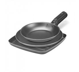 Conjunto 3pçs Grill, Panq e Frigideira Garlic grf 7000/307