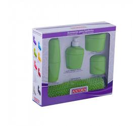 Kit de Acessórios para Banheiro Astra 5 Peças Kbb14tabc