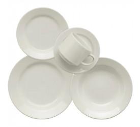 Aparelho de Jantar/Chá Biona Donna 30Pçs Branco AE30-5002