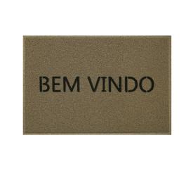 Capacho Vinil Bem Vindo 40X60cm Bege Kapazi 01730502