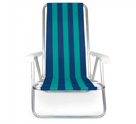 Cadeira Reclinável de Alumínio Mor 100kg 2229