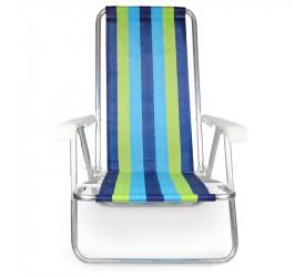 Cadeira Reclinável de Alumínio Mor 100kg 2230