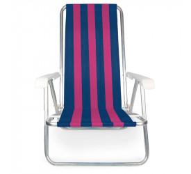 Cadeira Reclinável de Alumínio Mor 100kg 2231