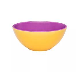 Tigela Oxford Pequena  600ml Violeta e Amarelo Ab37-0267
