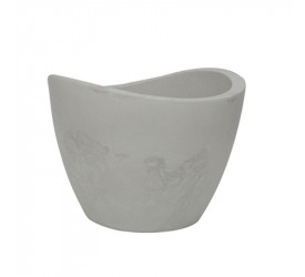 Vaso Vasart Copacabana 40x30cm Antique Branco