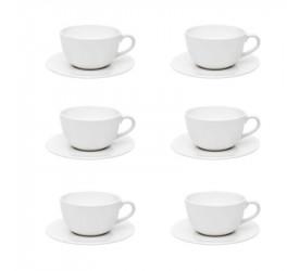 Conjunto de Chá 12 Peças Oxford Unni White Ay12-5500