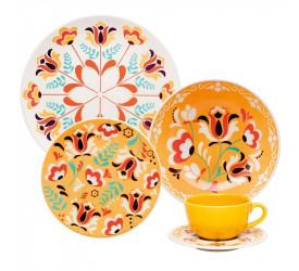 Aparelho de Jantar/Chá Oxford 30 peças Flowers AY30-5621
