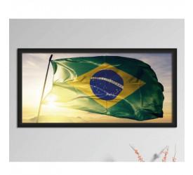 Quadro Decorativo Plasbil Grande Bandeira do Brasil QDG041