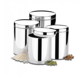 Conjunto de Potes para Mantimentos Brinox 4 Peças 2100103