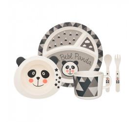 Conjunto Refeição Infantil Oxford 5 Peças Panda Jh6142-m