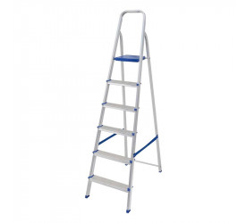 Escada de Alumínio Mor 6 Degraus 120Kg 005104
