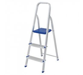 Escada de Alumínio Mor 3 Degraus 120Kg 005101