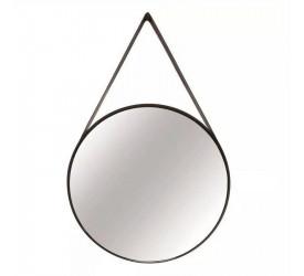 Espelho Redondo em Metal Mart 50cm Preto 09397