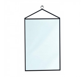Espelho Retangular em Metal Mart 64x35,5x1 Preto 10508