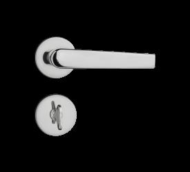 Fechadura Pado Banheiro ZM Concept Roseta 401B Cromado