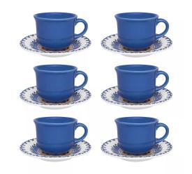 Jogo de Xícaras para Chá Oxford 12 Peças La Carreta J568-6788