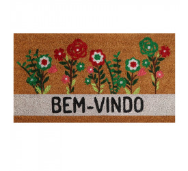 Capacho Fibra de Coco Uzzo Flores Coloridas 0300723036