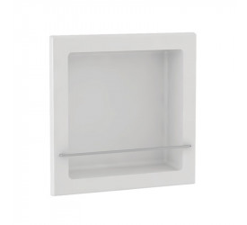 Nicho Thin Com Haste Branco Quadrado Gaam 38x38Cm 091.20